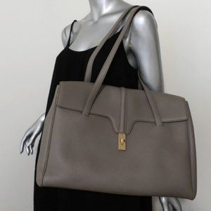 Celine Large Soft 16 Bag Gray Grained Leather